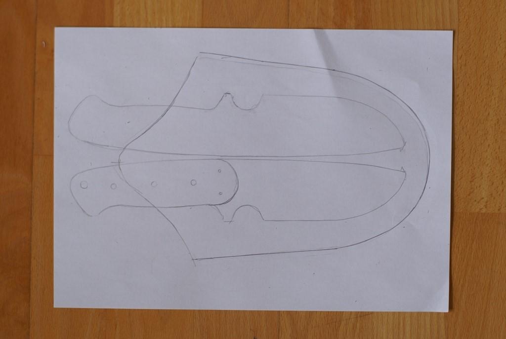 Schritt 1: Anfertigen einer Ledermesserscheide