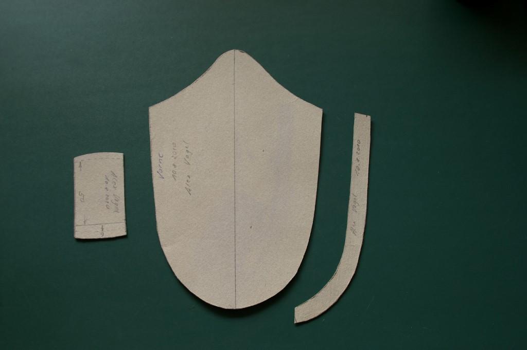 Schablone für Gürtelschlaufe und Gürtelschlaufenkeder identisch