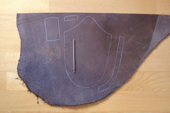 Schritt 3: Anfertigen einer Ledermesserscheide